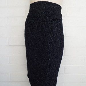 Nanette Lepore 6 charcoal tweed wool pencil skirt